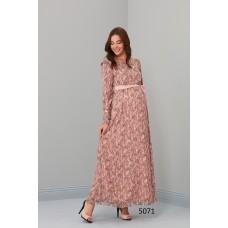 5071 Hamile Tesettür Uzun Elbise