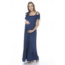 5116 Hamile Viskon Uzun  Elbise