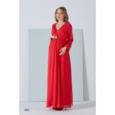 6002 Hamile Şifon Baby Shower / Uzun / Tesettür Elbise
