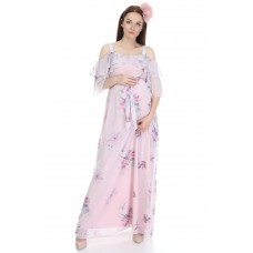 6021 Hamile Empirme Şifon Elbise