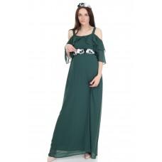 6021 Hamile Şifon Baby Shower / Uzun  Elbise