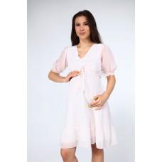 Hamile Şifon Puantiyeli Elbise