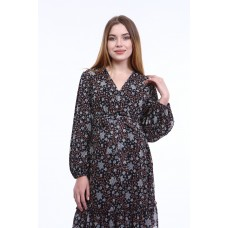 Hamile Elbise Şifon Çiçek Desenli