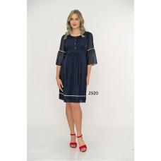 2920 Hamile Puantiyeli Şifon Elbise