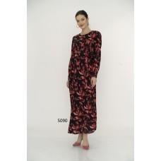 5090 Hamile Tesettür Uzun Elbise