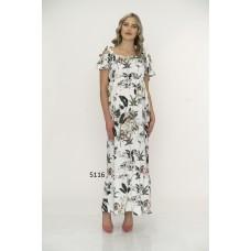 5116 Hamile Desenli Uzun  Elbise