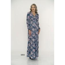6002 Hamile Queen Krep Uzun / Tesettür Elbise