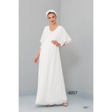 6057 Hamile Şifon Baby Shower / Uzun  Elbise